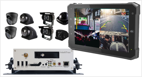 IntelliTrac Top of the range GPS Telematics Bus video streaming Security